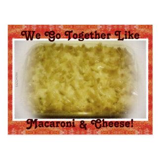 Wir gehen zusammen wie Makkaroni u. Käse Postkarte