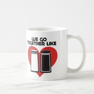 Wir gehen zusammen wie Salz und Pfeffer Kaffeetasse