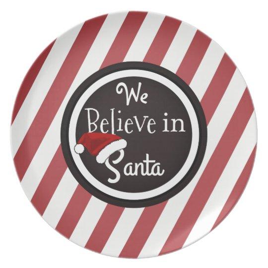 """""""Wir glauben an Sankt"""" Weihnachtsplätzchen Teller"""