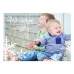 Wir glauben   Feiertags-Foto-Gruß Individuelle Ankündigskarten