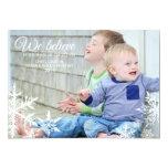 Wir glauben | Feiertags-Foto-Gruß Individuelle Ankündigskarten