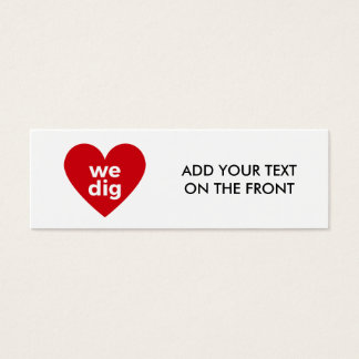 Wir graben - Rot Mini Visitenkarte