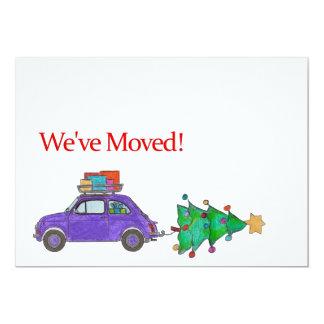 Wir haben Auto-und Baum Weihnachtskarte bewegt 12,7 X 17,8 Cm Einladungskarte