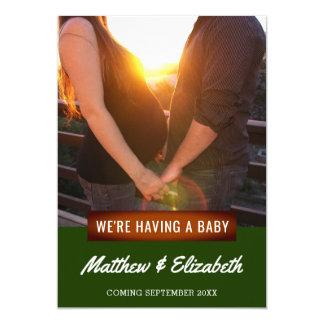 Wir haben eine Foto-Schwangerschafts-Mitteilung 12,7 X 17,8 Cm Einladungskarte