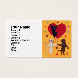 Wir haben eine große Herz Labradors Malerei Visitenkarte