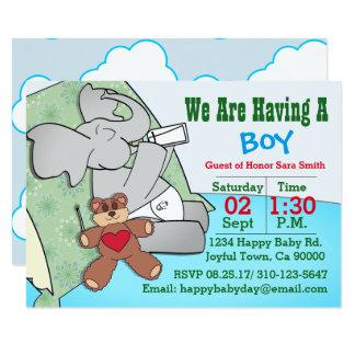 Wir haben einen Jungen, Elefanten Karte