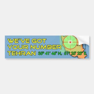 Wir haben Ihre Zahl Teheran Autoaufkleber