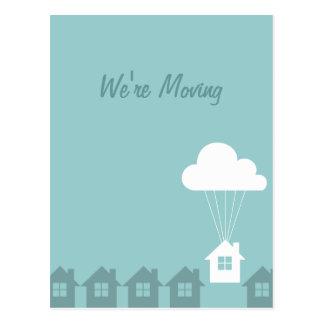 Wir haben Mitteilungs-Postkarten bewegt Postkarte