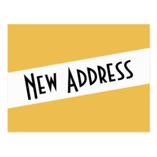 Wir haben neue Adresse bewegt Postkarte