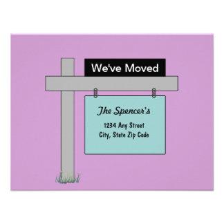 Wir haben neue Adressen-Karte bewegt Einladungskarten