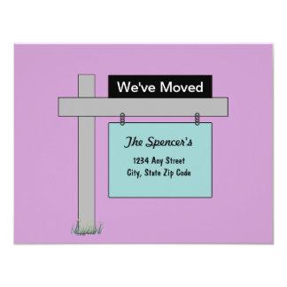 Wir haben neue Adressen-Karte bewegt 10,8 X 14 Cm Einladungskarte