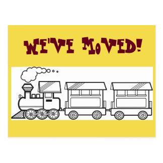Wir haben Zug-Karte bewegt Postkarte