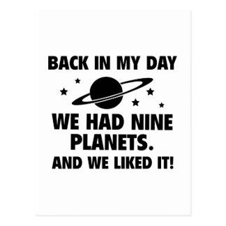 Wir hatten neun Planeten Postkarten