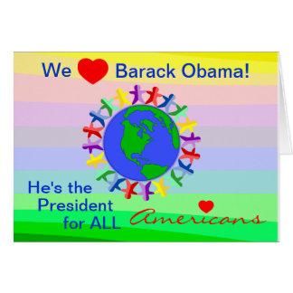 Wir Herz Barack Obama, Präsident für alle Karte