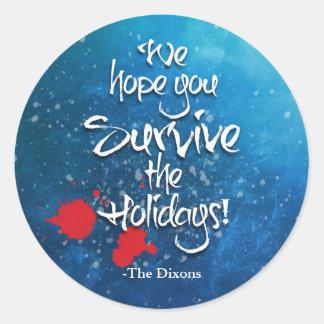 Wir hoffen, dass Sie den Feiertags-individuellen Runder Aufkleber