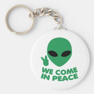 Wir kommen in Friedensalien Schlüsselanhänger