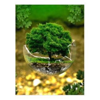 Wir können die Änderung sein u. die Erde retten! Postkarte