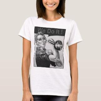 Wir können es tun Kettlebell T - Shirt B&W