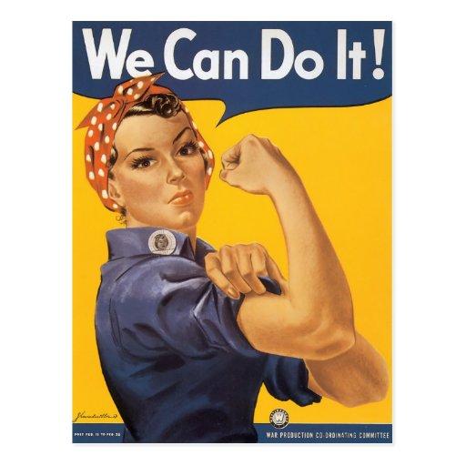 Wir können es tun! postkarte