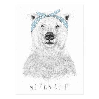 Wir können es tun postkarte