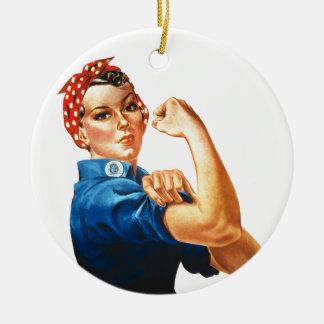 Wir können es tun Rosie der Keramik Ornament