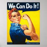 Wir können es tun! Rosie der Nieteneinschläger Plakatdrucke