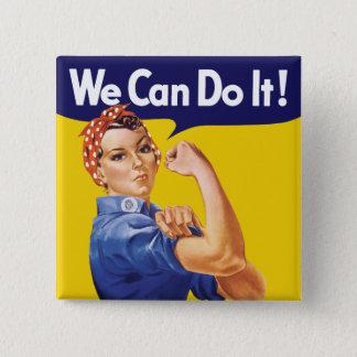 Wir können es tun! Rosie der Nieteneinschläger Quadratischer Button 5,1 Cm