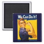 Wir können es tun! Rosie der Nieteneinschläger Vin Quadratischer Magnet