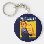 Wir können es tun! Rosie der Nieteneinschläger Vin Standard Runder Schlüsselanhänger
