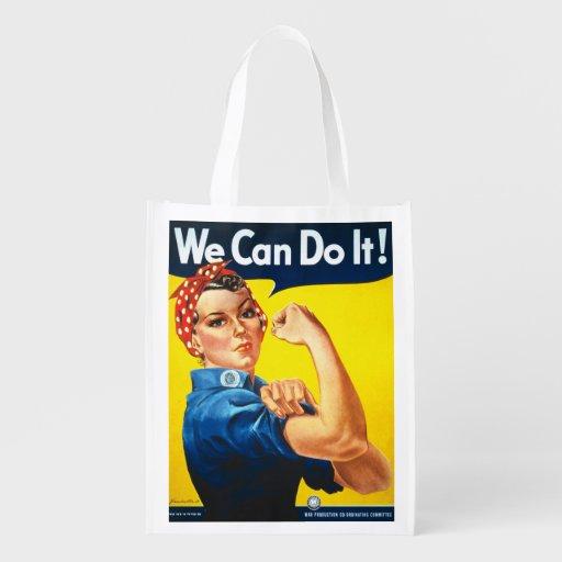 Wir können es tun Rosie der Nieteneinschläger Einkaufsbeutel