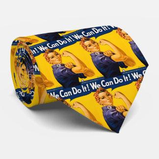 Wir können es tun! Rosie Nieteneinschläger Vintage Bedruckte Krawatten