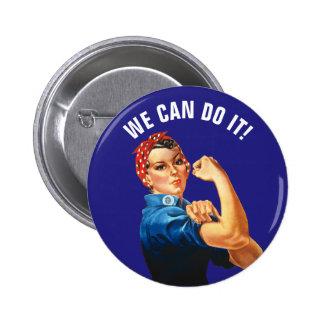 Wir können es tun runder button 5,7 cm