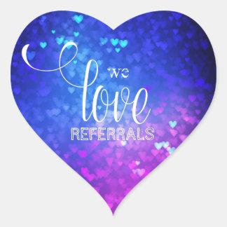 Wir Liebe-Empfehlungen Bokeh beleuchten Herz-Aufkleber