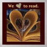 Wir Liebe, Klassenzimmer-Bildungs-Plakat zu lesen
