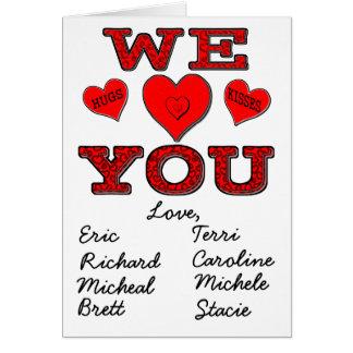 Wir Liebe Sie Karte