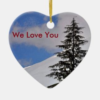 Wir Liebe Sie Keramik Ornament