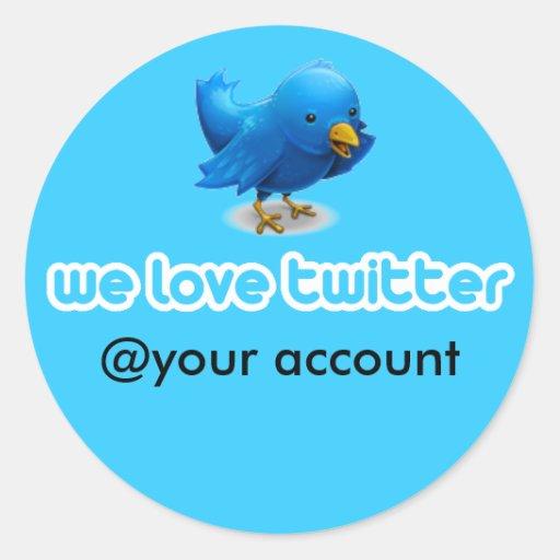 wir Liebe-Twitter Runde Sticker
