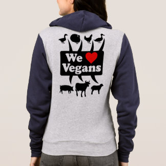 Wir Liebe Vegans II (Schwarzes) Hoodie