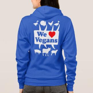 Wir Liebe Vegans II (weiß) Hoodie
