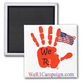 Wir R1 US Flaggen-Handmagnet Quadratischer Magnet