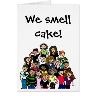 """""""Wir riechen Kuchen!"""" Geburtstagskarte Karte"""