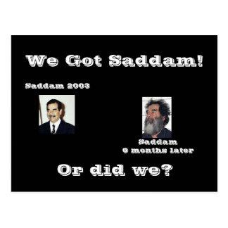 Wir Saddam! oder taten wir? Postkarte