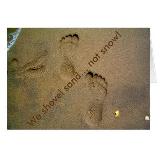 Wir schaufeln Sand-nicht Schnee - Abdrücke im Sand Karte