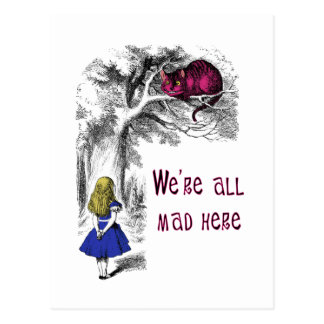 Wir sind alle hier wütend postkarte