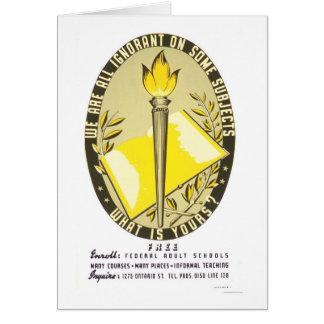 Wir sind alle ignorantes WPA 1938 Grußkarte
