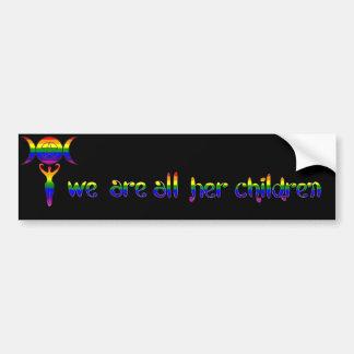 Wir sind alle ihre Kinder - LGBTQ Heide-Stolz Autoaufkleber