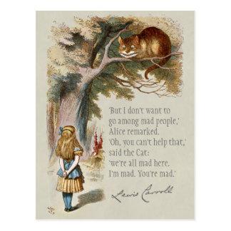 Wir sind alle wütende hier CC0188 Alice Cheshire Postkarte