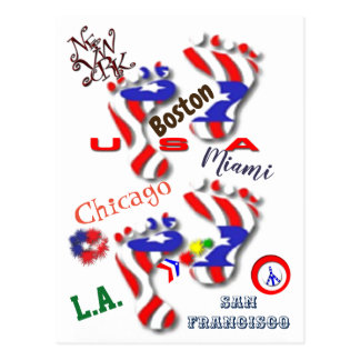 Wir sind Amerika Postkarte