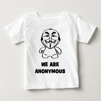 Wir sind anonym baby t-shirt