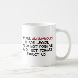 Wir sind anonym kaffeetasse